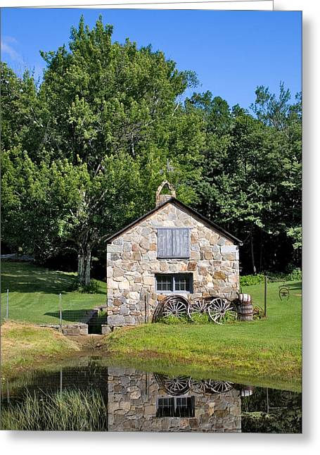 4 Stones Greeting Cards - Stone Shed Summer Greeting Card by Larry Landolfi