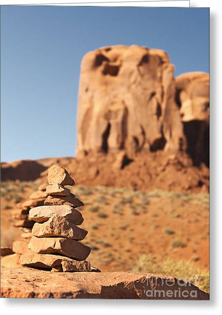 Native Stone Greeting Cards - Stone stack. Greeting Card by Jane Rix
