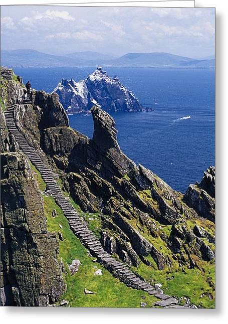 Believers Greeting Cards - Stone Stairway, Skellig Michael Greeting Card by Gareth McCormack