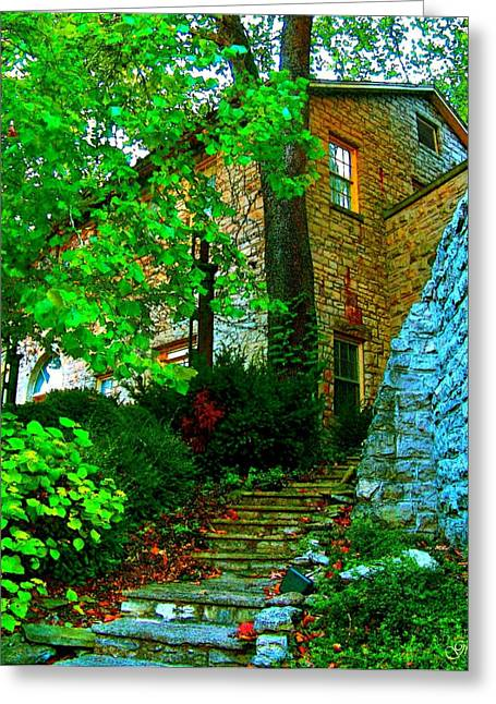 Stepping Stones Greeting Cards - Stone Steps Greeting Card by Julie  Grace