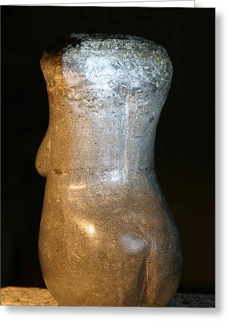 Field Sculptures Greeting Cards - Stone Torso Back Greeting Card by Tommy  Urbans