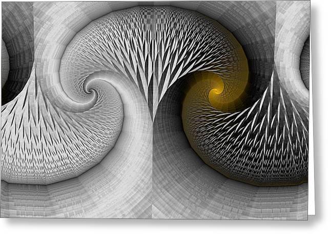Mark Eggleston Greeting Cards - Stone Tree and Yellow Light Greeting Card by Mark Eggleston