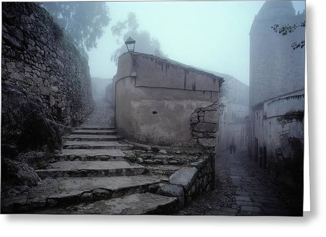 Extremadura Greeting Cards - Stone Walls And Staircase, Extremadura Greeting Card by Sam Abell
