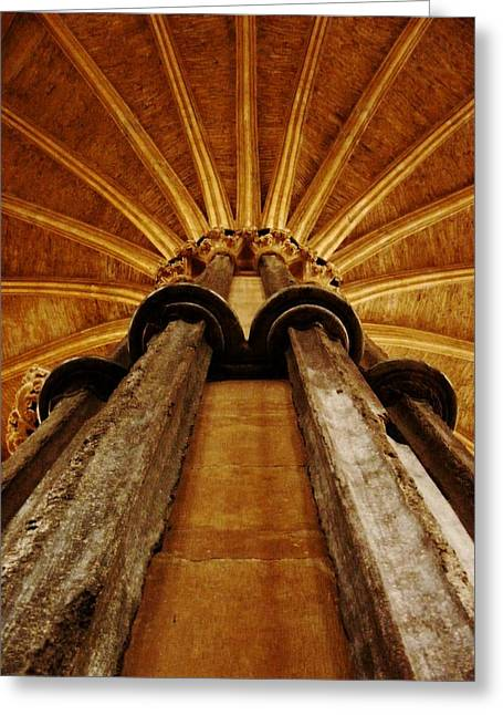 Allegoric Greeting Cards - Stone way to Heaven - Lincoln Cathedral  Greeting Card by Danielle Harlow