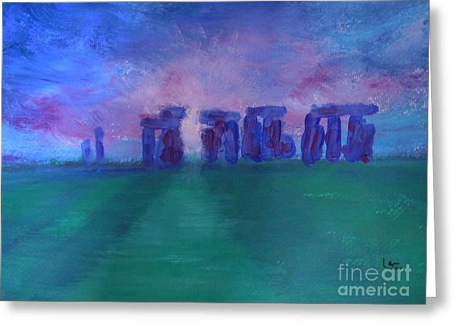 Lam Lam Greeting Cards - Stonehedge sunrise England Greeting Card by Lam Lam