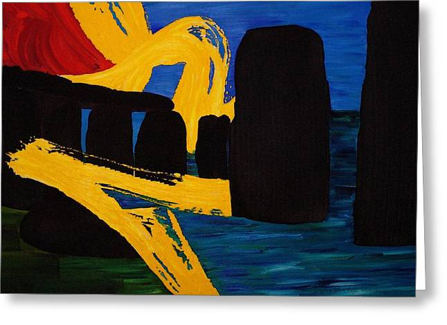 Gregory Allen Page Greeting Cards - Stonehenge Abstract Evolution1 Greeting Card by Gregory Allen Page