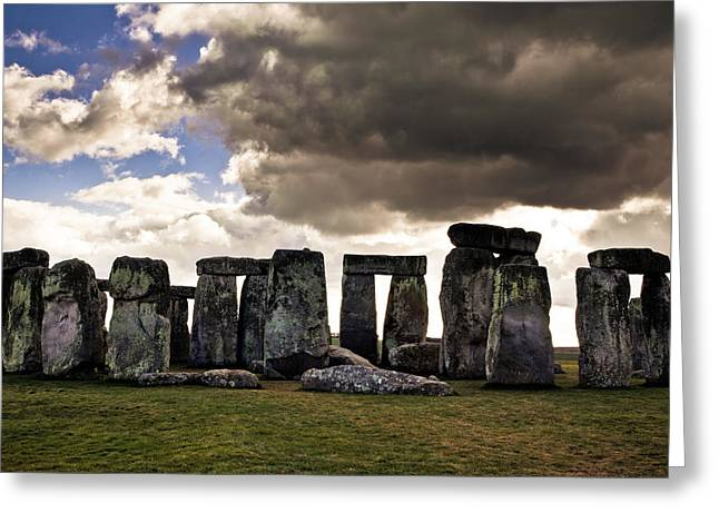 Rocks Greeting Cards - Stonehenge after the Storm Greeting Card by Justin Albrecht