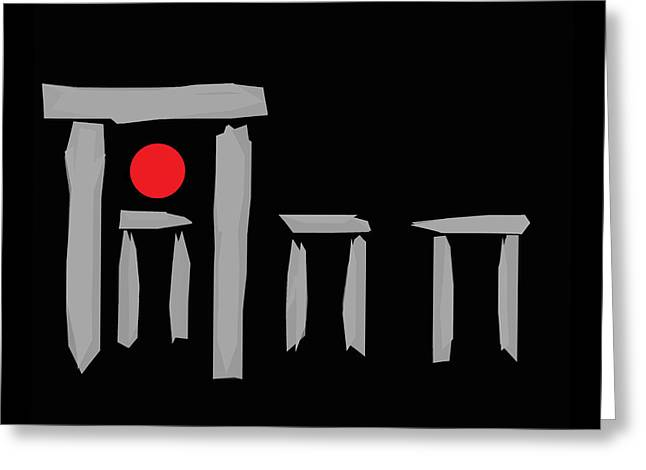 James Hill Greeting Cards - Stonehenge at the Winter Solstice Greeting Card by James Hill