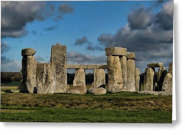 Monolith Greeting Cards - Stonehenge Greeting Card by Heather Applegate