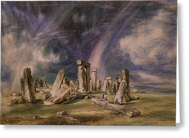 Constable Paintings Greeting Cards - Stonehenge Greeting Card by John Constable