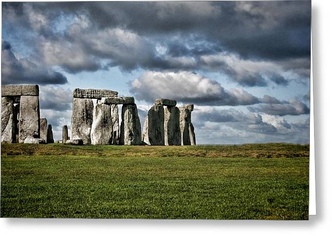Amesbury Greeting Cards - Stonehenge Landscape Greeting Card by Heather Applegate