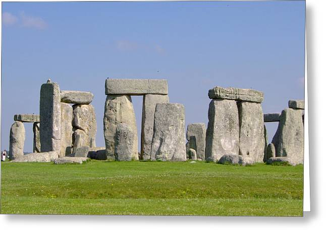 Standing Pyrography Greeting Cards - Stonehenge Morning Greeting Card by Bernadette Wulf