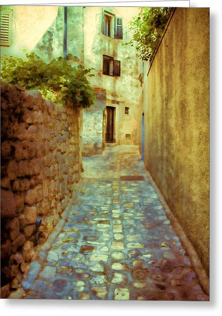 Sun Shade Greeting Cards - Stones and walls Greeting Card by Jasna Buncic