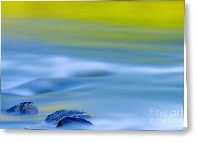Nature Photographs Greeting Cards - Stones in River Greeting Card by Silke Magino