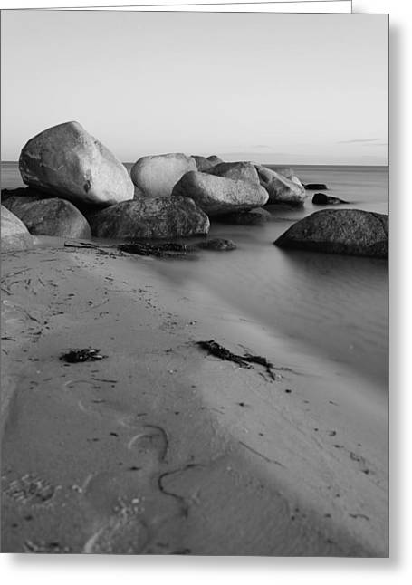 Stein Greeting Cards - Stones in the sea 3 Greeting Card by Falko Follert