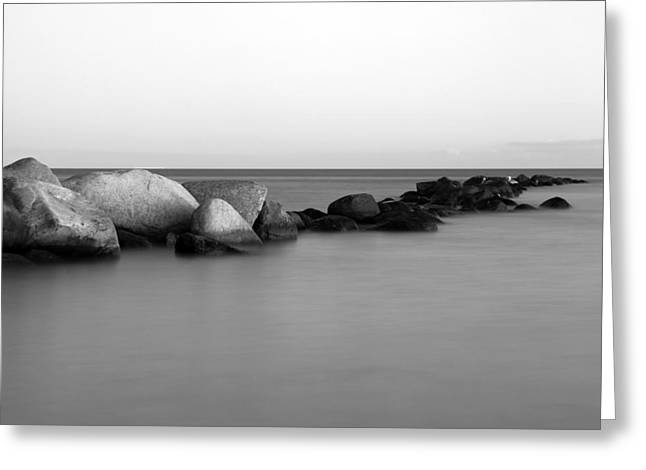 Stein Greeting Cards - Stones in the sea 4 Greeting Card by Falko Follert