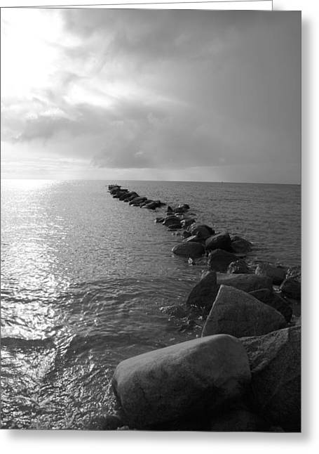 Stein Greeting Cards - Stones in the sea 5 Greeting Card by Falko Follert
