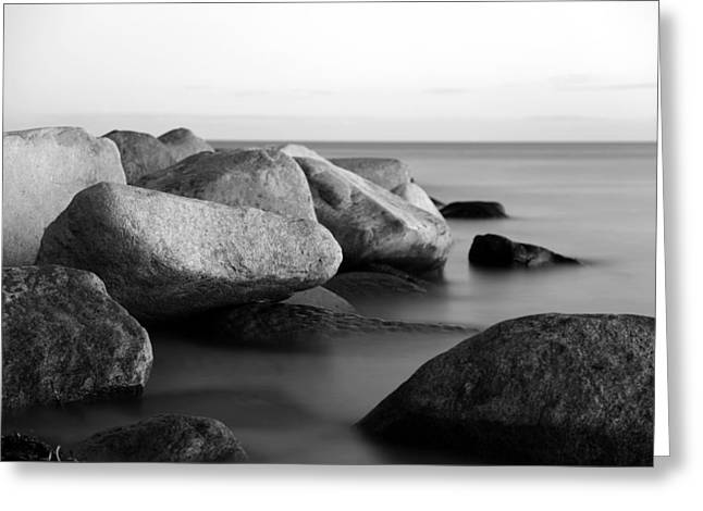 Stones In Water Greeting Cards - Stones in the sea Greeting Card by Falko Follert