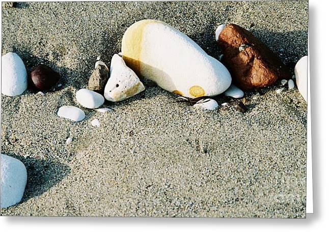 Get Well Card Framed Prints Greeting Cards - Stones On The Beach Greeting Card by Marcus Dagan