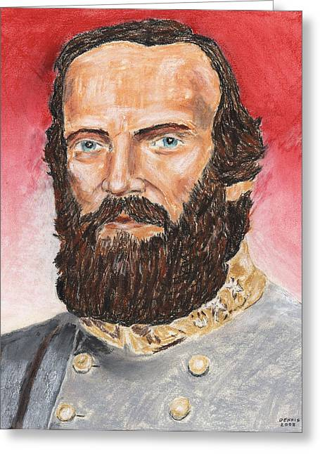 Civil Pastels Greeting Cards - Stonewall Jackson Greeting Card by Dennis Larson