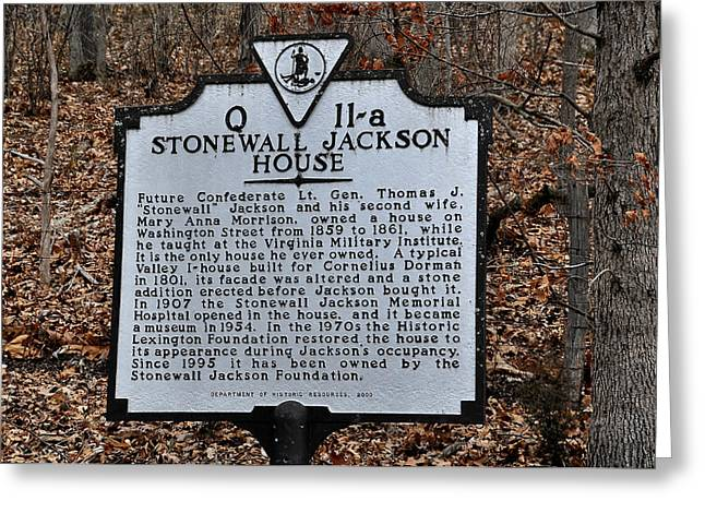 Stonewall Greeting Cards - Stonewall Jackson House Greeting Card by Todd Hostetter