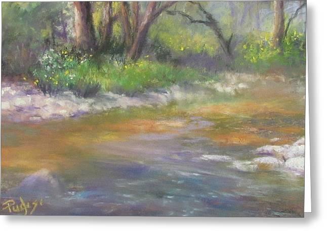 Creek Pastels Greeting Cards - Stony Creek Greeting Card by Bill Puglisi