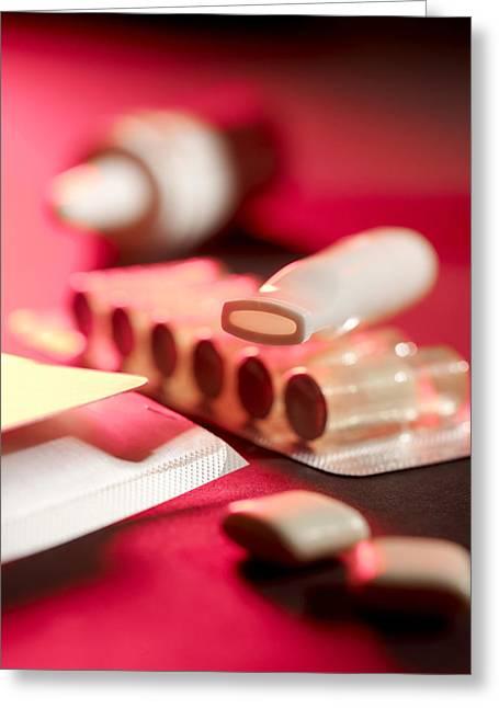 Cartridge Greeting Cards - Stop Smoking Aids Greeting Card by Tek Image