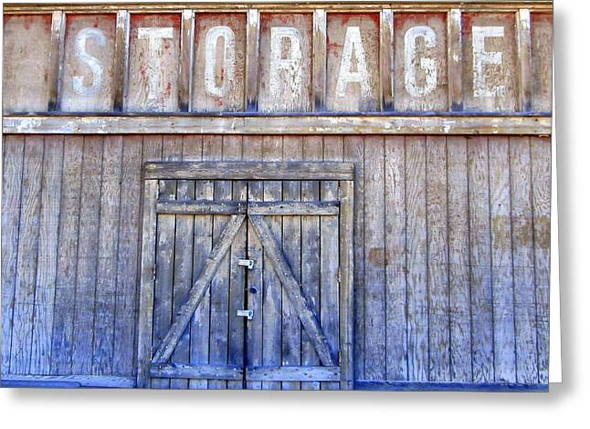 Storage - Architectural Photography Greeting Card by Karyn Robinson