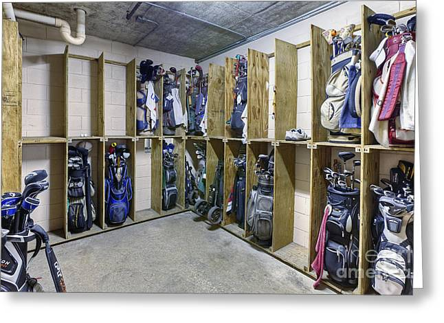 Storage Room For Golf Clubs Greeting Card by Skip Nall