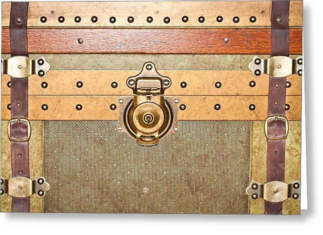 Latch Greeting Cards - Storage trunk Greeting Card by Tom Gowanlock