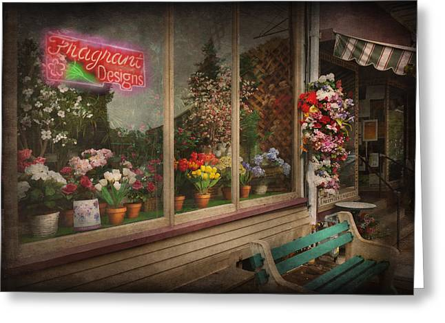 Store - Belvidere NJ - Fragrant Designs Greeting Card by Mike Savad
