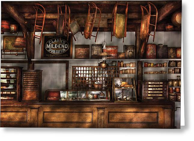 Toy Store Photographs Greeting Cards - Store - Old Fashioned Super Store Greeting Card by Mike Savad