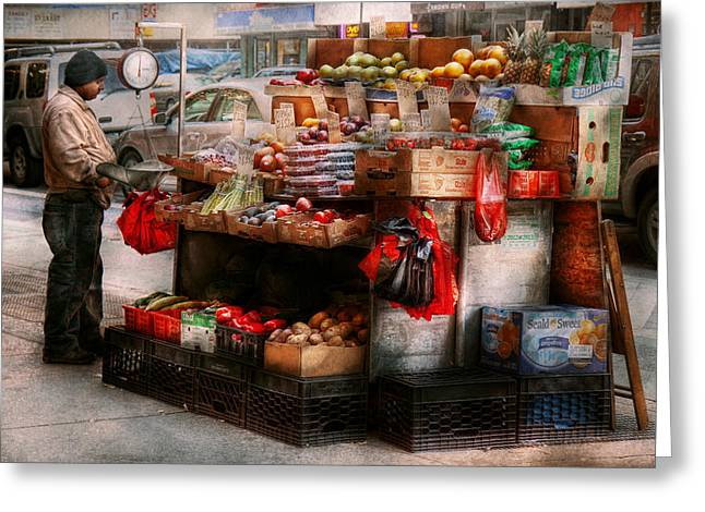 Store - Ny - Chelsea - Fresh Fruit Stand Greeting Card by Mike Savad