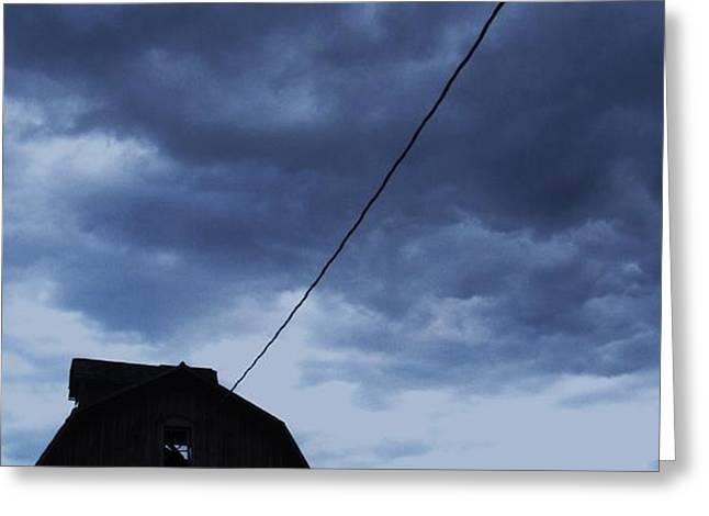 Storm Acoming Greeting Card by TODD SHERLOCK