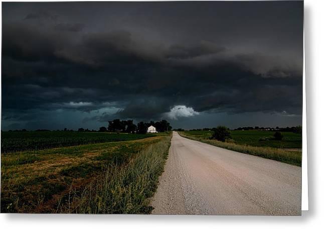 Storm Ahead Greeting Card by Rick Rauzi