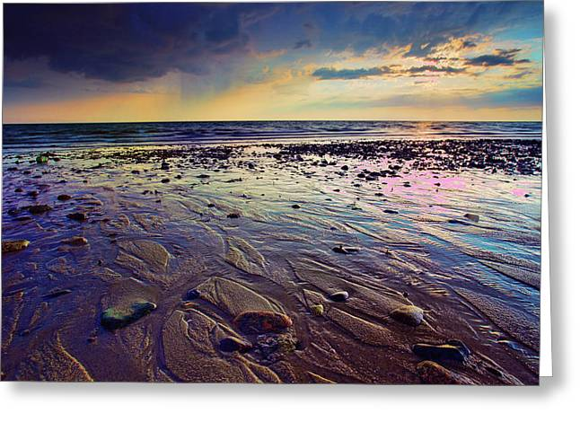 Rocky Beach Greeting Cards - Storm and Sun Greeting Card by Rick Berk