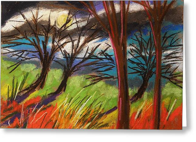 Unique View Pastels Greeting Cards - Storm Approaching Fast Greeting Card by John  Williams