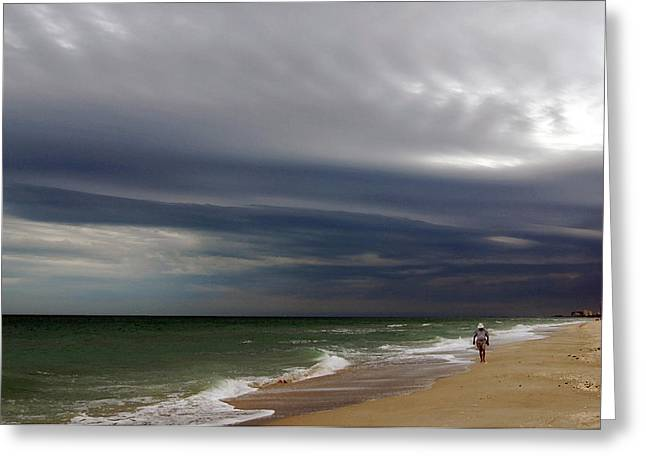Storm Prints Digital Art Greeting Cards - Storm Beach Greeting Card by Barry Goble