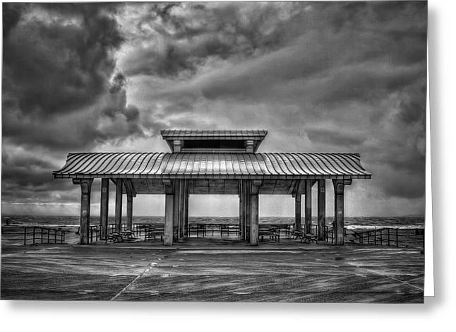 Brighton Beach Greeting Cards - Storm Before The Calm Greeting Card by Evelina Kremsdorf