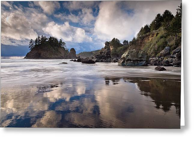 Storm Clearing At Trinidad State Beach Greeting Card by Greg Nyquist