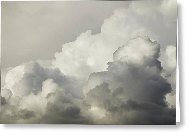 Skylights Greeting Cards - Storm Clouds and Thunder Heads Before Rain Storm Fiine Art Print Greeting Card by Keith Webber Jr