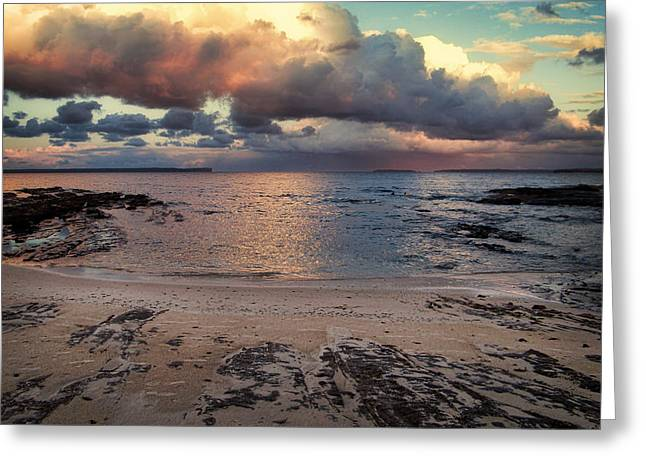 Jervis Greeting Cards - Storm Clouds at Jervis Bay Greeting Card by Alison Johnston