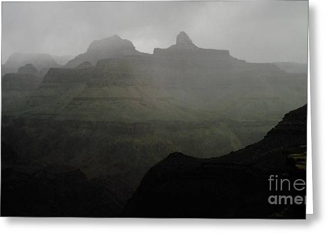 Storm Clouds in the Grand Canyon Greeting Card by Estephy Sabin Figueroa