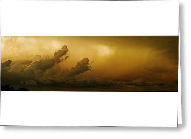 Awesome Pyrography Greeting Cards - Storm Clouds Greeting Card by Miles Schuster