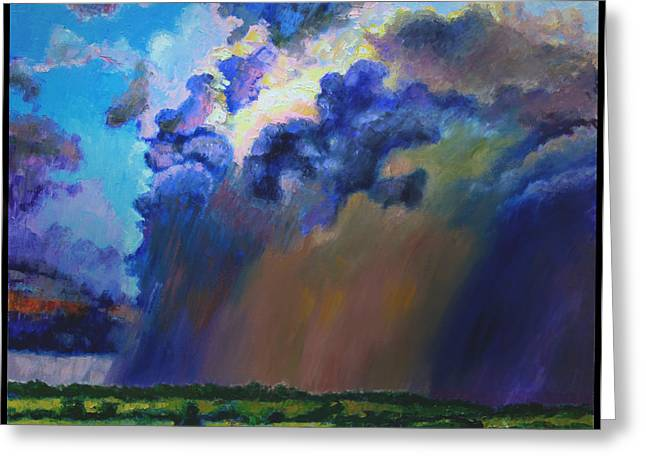 Storm Clouds Over Missouri Greeting Card by John Lautermilch