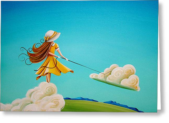 Illustrative Paintings Greeting Cards - Storm Development Greeting Card by Cindy Thornton