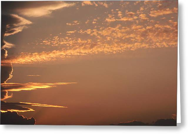 Storm Front Sunset Greeting Card by Brian  Maloney