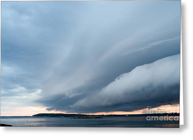 Gusts Greeting Cards - Storm Front Greeting Card by Ted Kinsman