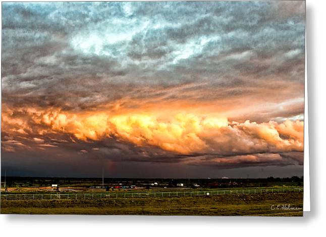 Storm Glow Greeting Card by Christopher Holmes