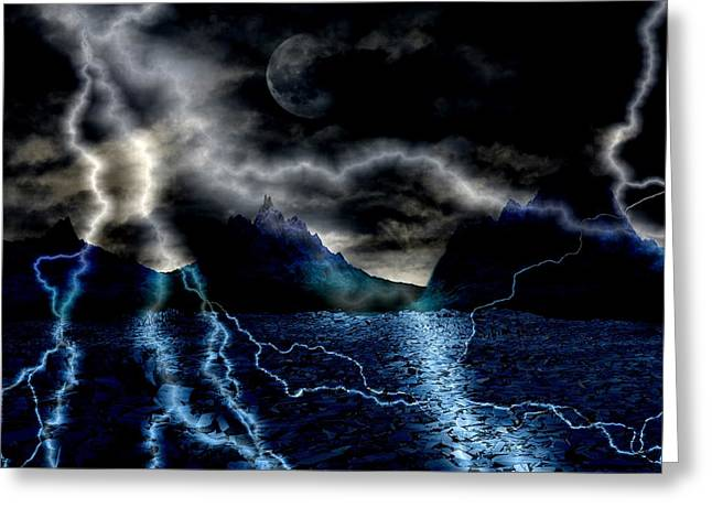 Storm In The Blue Mountains Greeting Card by Angel Jesus De la Fuente